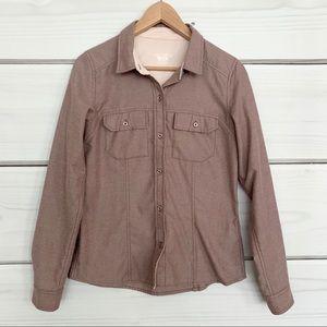 ARC'TERYX Pink Button-Down Shirt Medium
